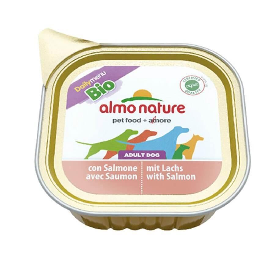 Almo Nature Chien Daily Menu Bio Saumon 32 x 100 grs - La compagnie des animaux