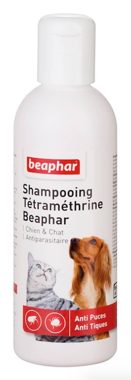 Beaphar shampooing antiparasitaire pour chien et chat à la Tétraméthrine 200 ml