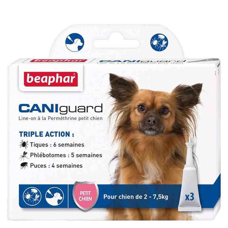 Beaphar Caniguard petit chien 2 - 7.5 kg 3 pipettes- La Compagnie des Animaux