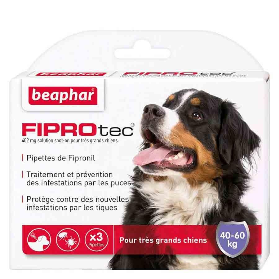 Beaphar Fiprotec très grand chien 40 - 60 kg 3 pipettes- La Compagnie des Animaux