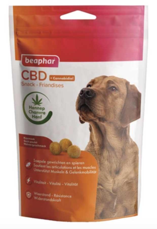 Beaphar Friandises au CBD (Cannabidiol) vitalité & résistance chien 150 g- La Compagnie des Animaux