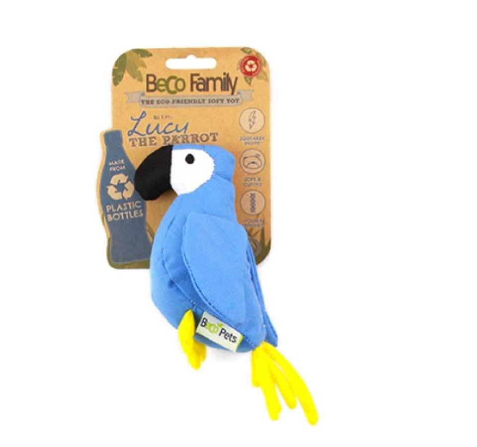 Beco Pets Peluche Lucy le perroquet pour chien 20 cm- La Compagnie des Animaux
