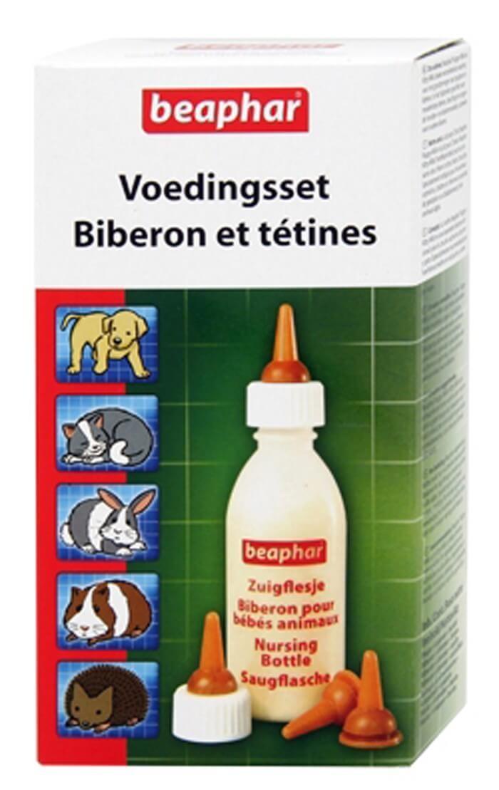 Beaphar Pack biberon et tétines (+ brosse à nettoyer)