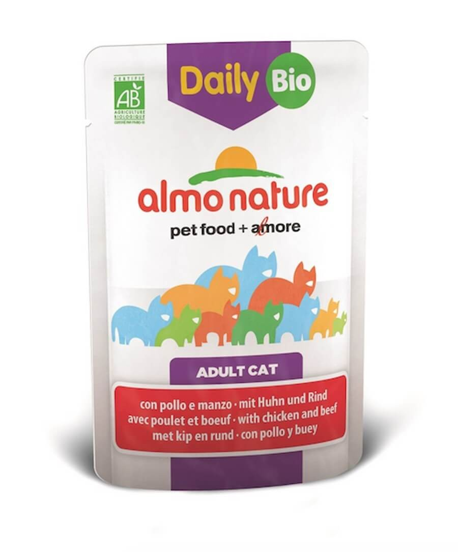 Almo Nature Chat Daily Bio Boeuf et Poulet 30 x 70 grs