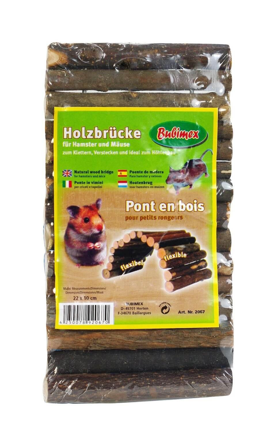 Bubimex pont en bois pour rongeurs - La Compagnie des Animaux
