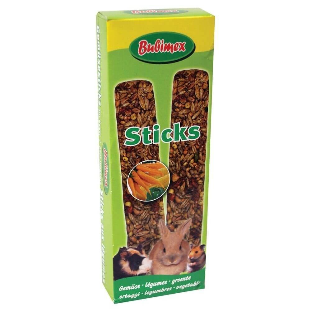 Bubimex Sticks aux légumes pour rongeurs 110 g x 2 - La Compagnie des Animaux