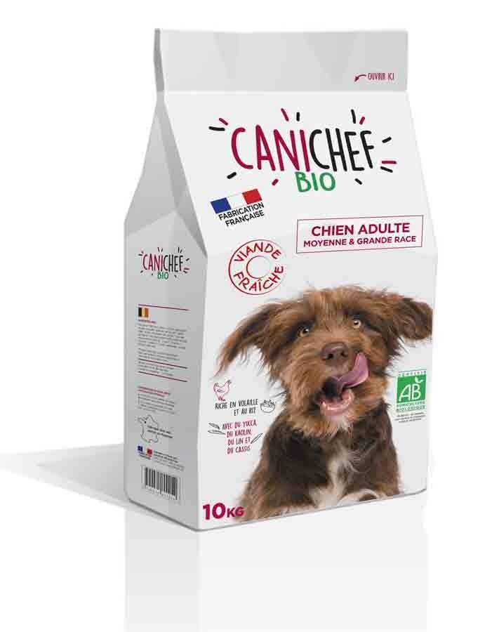 Canichef croquettes BIO chien grande race 10 kg- La Compagnie des Animaux