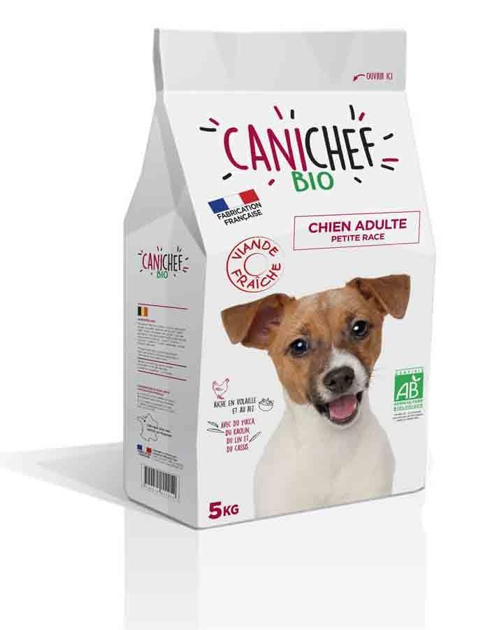 Canichef croquettes BIO chien petite race 5 kg- La Compagnie des Animaux