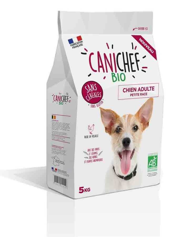 Canichef croquettes BIO sans céréales, sans gluten chien petite race 5 kg- La Compagnie des Animaux