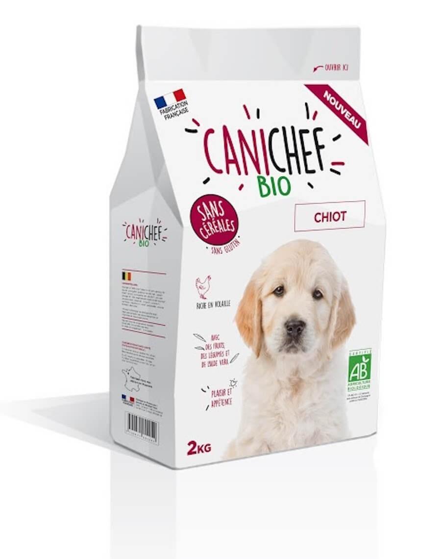 Canichef croquettes BIO sans céréales, sans gluten chiot 2kg - La Compagnie des Animaux