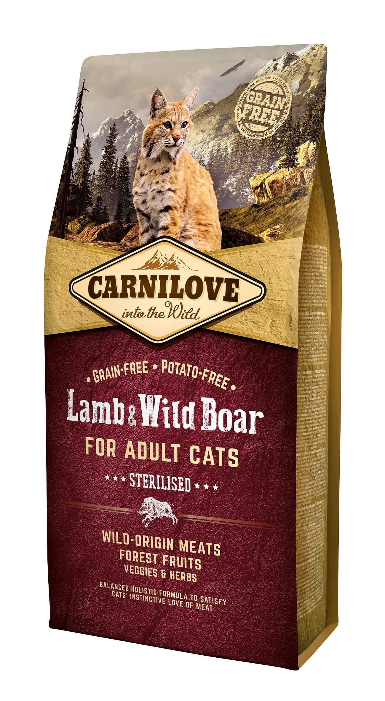Carnilove Agneau et Sanglier chat 6kg - La Compagnie des Animaux