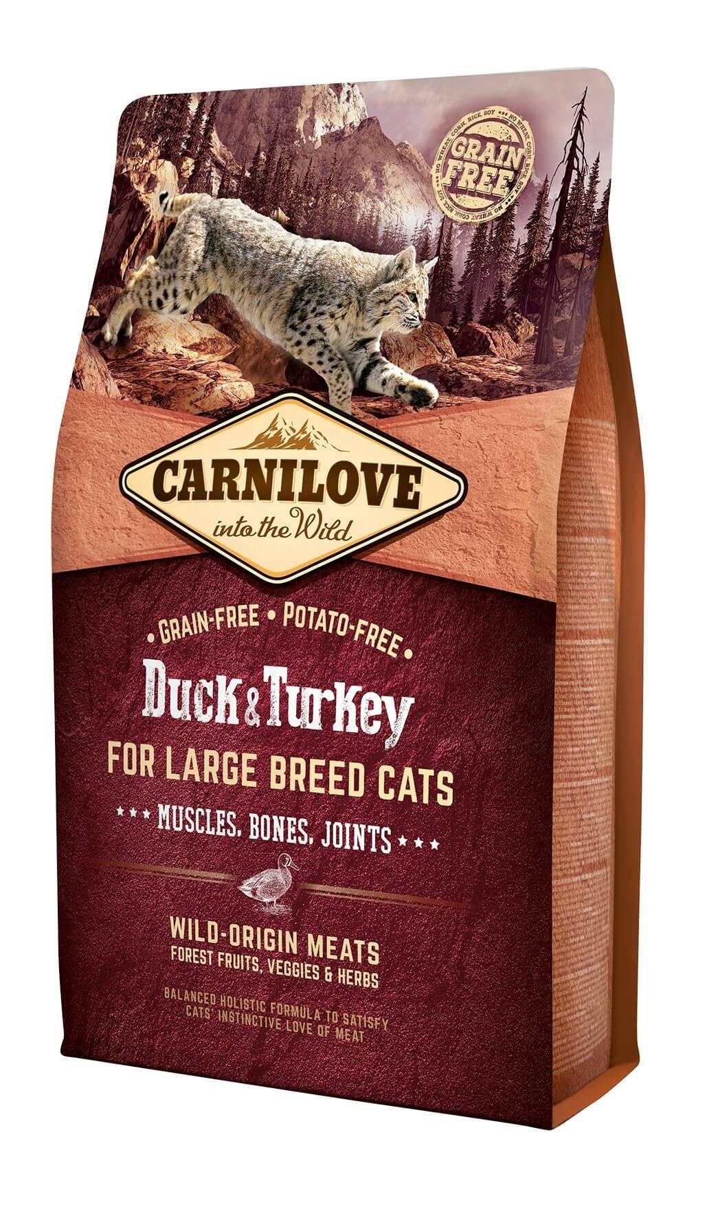 Carnilove Canard et Dinde chat 2 kg - La Compagnie des Animaux