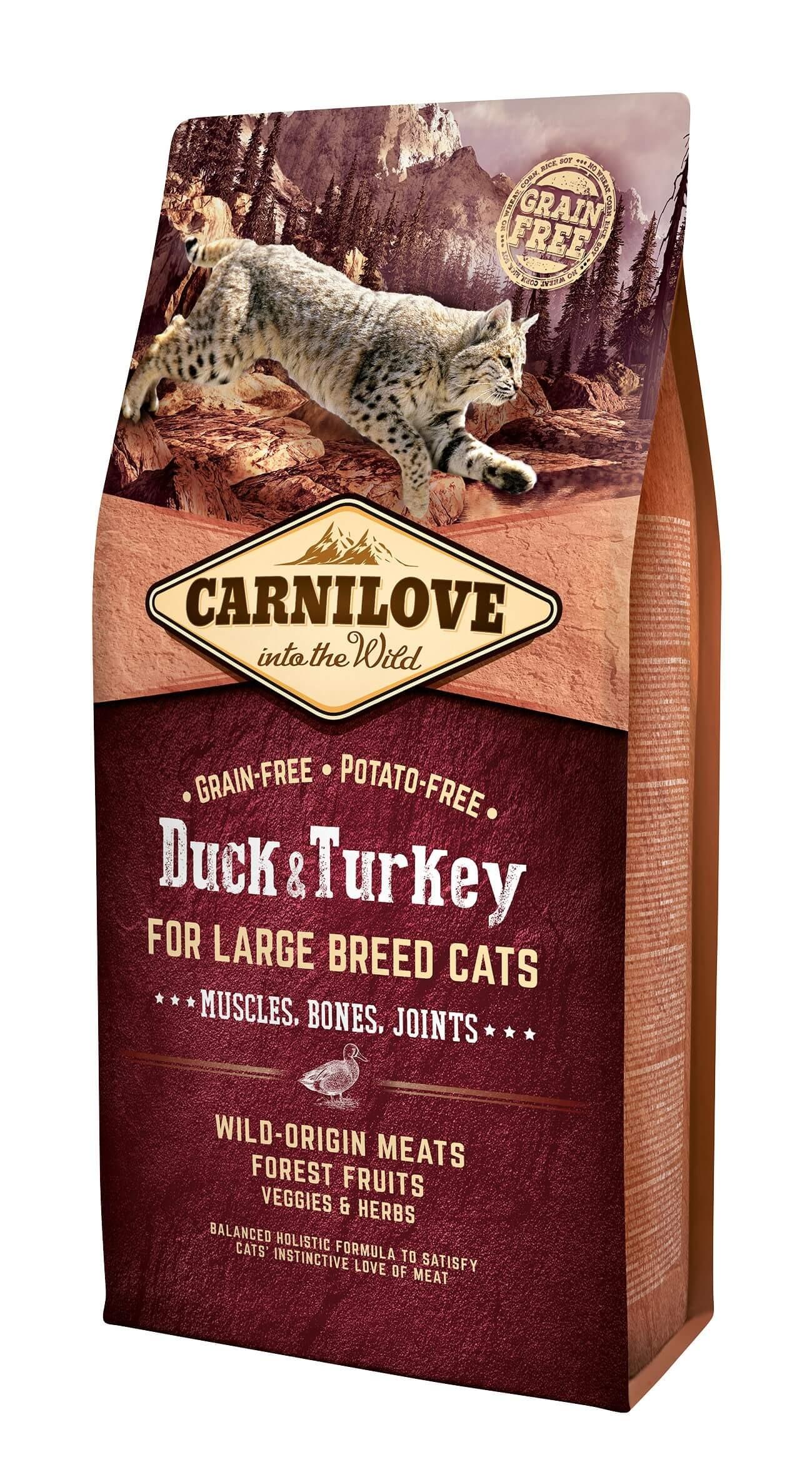 Carnilove Canard et Dinde chat 6 kg - La Compagnie des Animaux