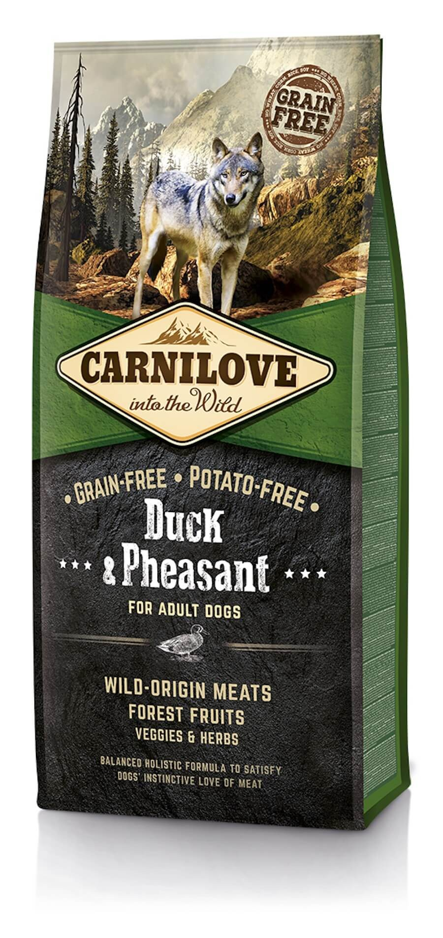 Carnilove Canard et Faisan chien 12kg - La Compagnie des Animaux