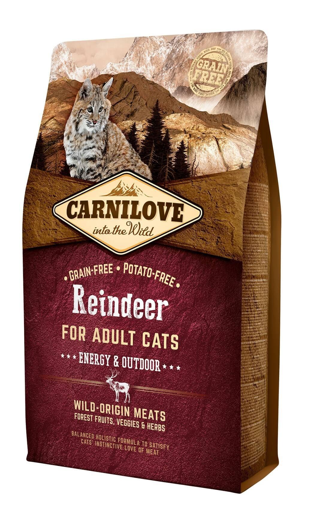 Carnilove Renne chat 2 kg - La Compagnie des Animaux