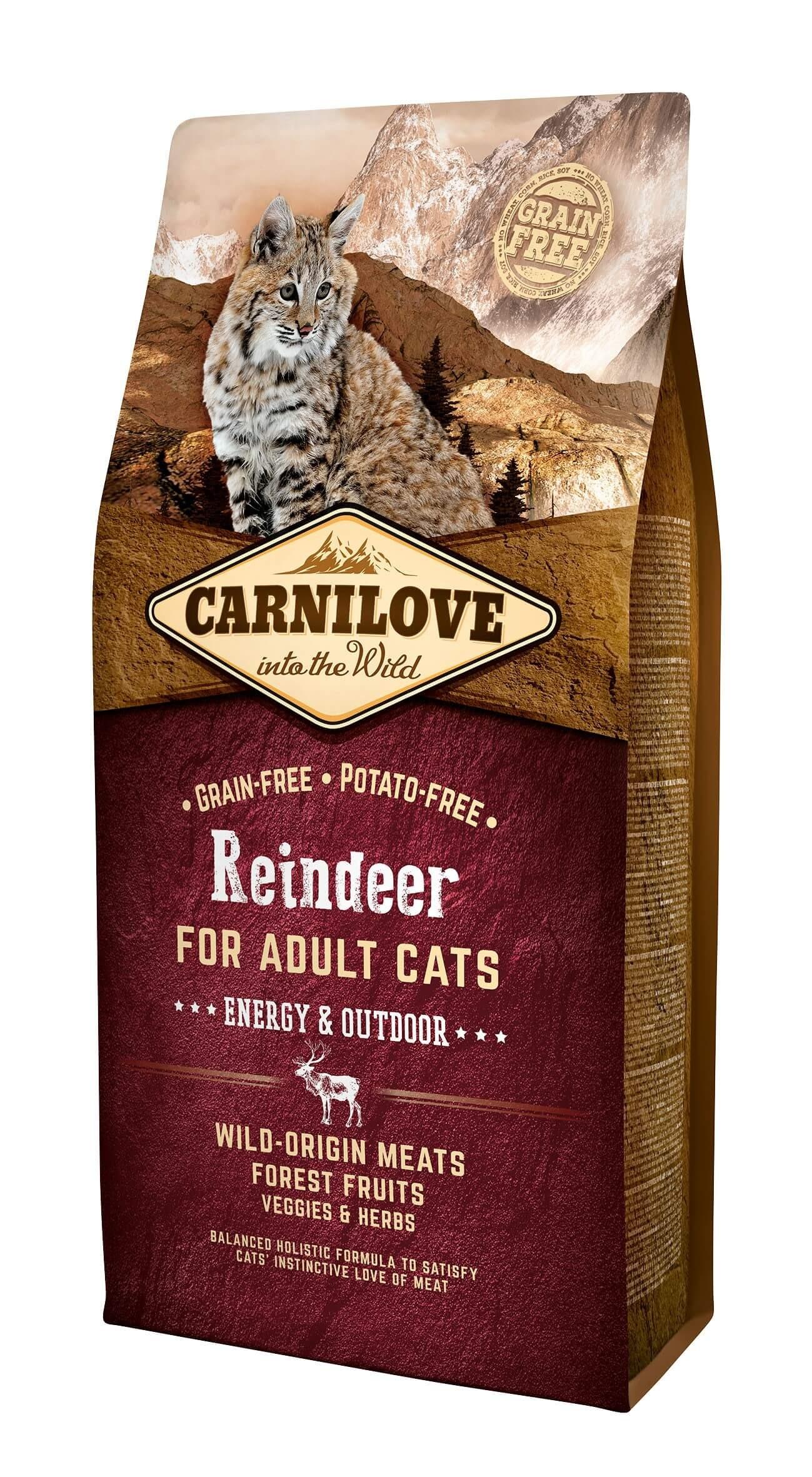 Carnilove Renne chat 6kg - La Compagnie des Animaux
