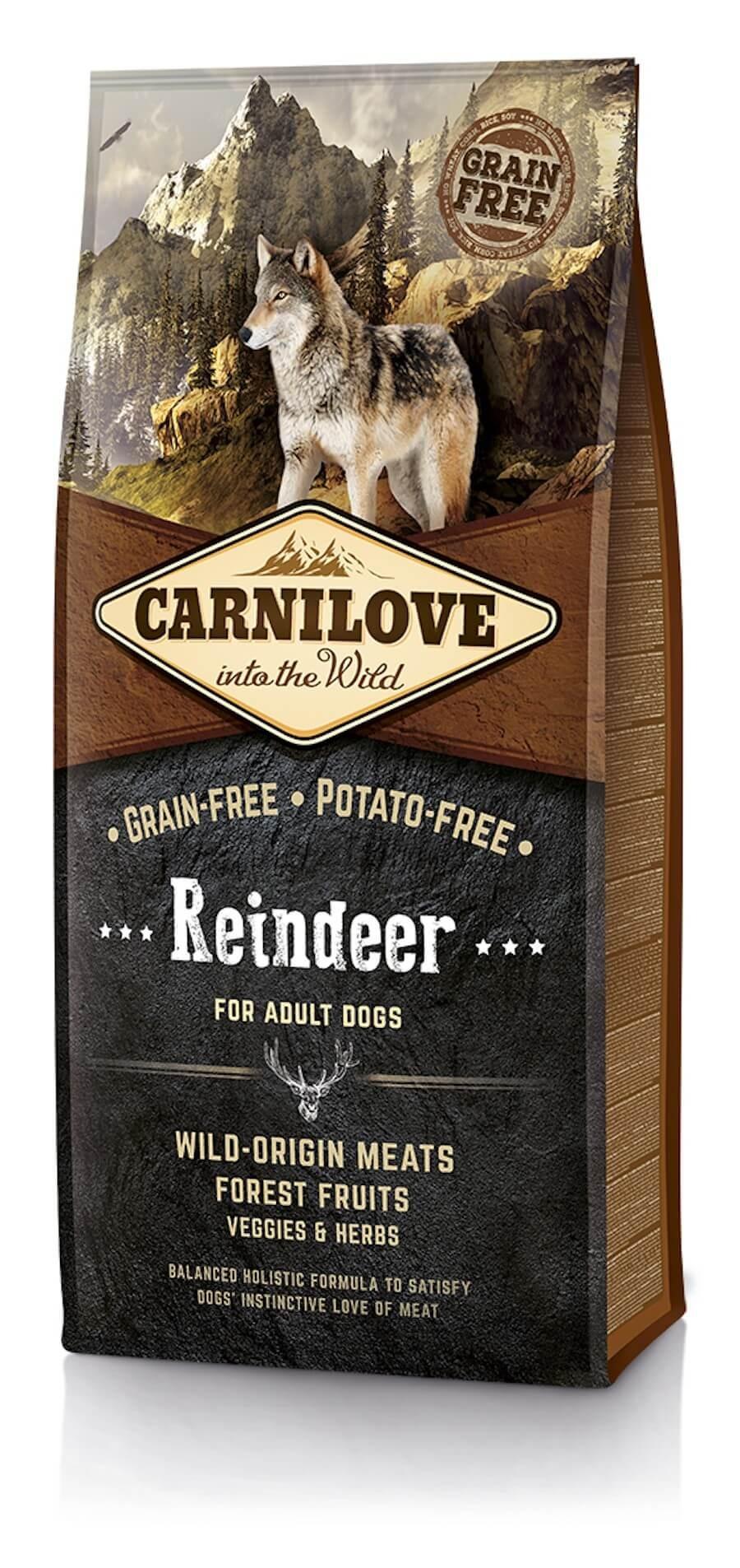 Carnilove Renne chien 12kg - La Compagnie des Animaux