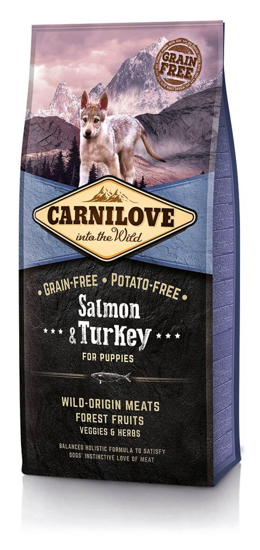 Carnilove Saumon et Dinde chiot 12kg - La Compagnie des Animaux