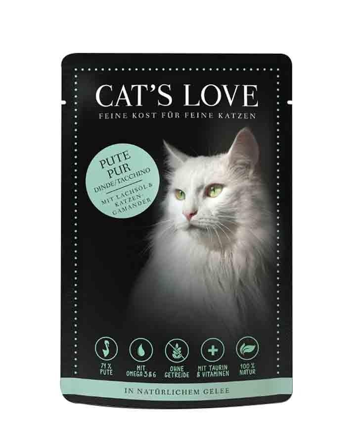 CAT'S LOVE Classic Dinde sachets 12 x 85 g- La Compagnie des Animaux