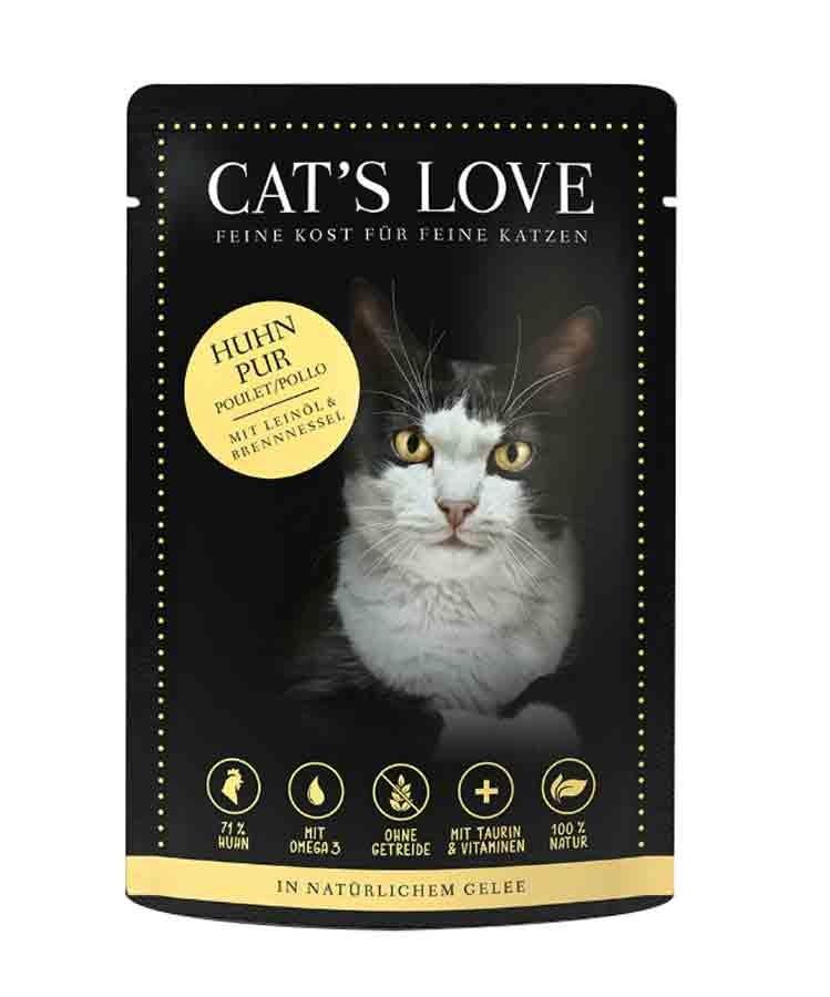 CAT'S LOVE Classic Poulet sachets 12 x 85 g- La Compagnie des Animaux
