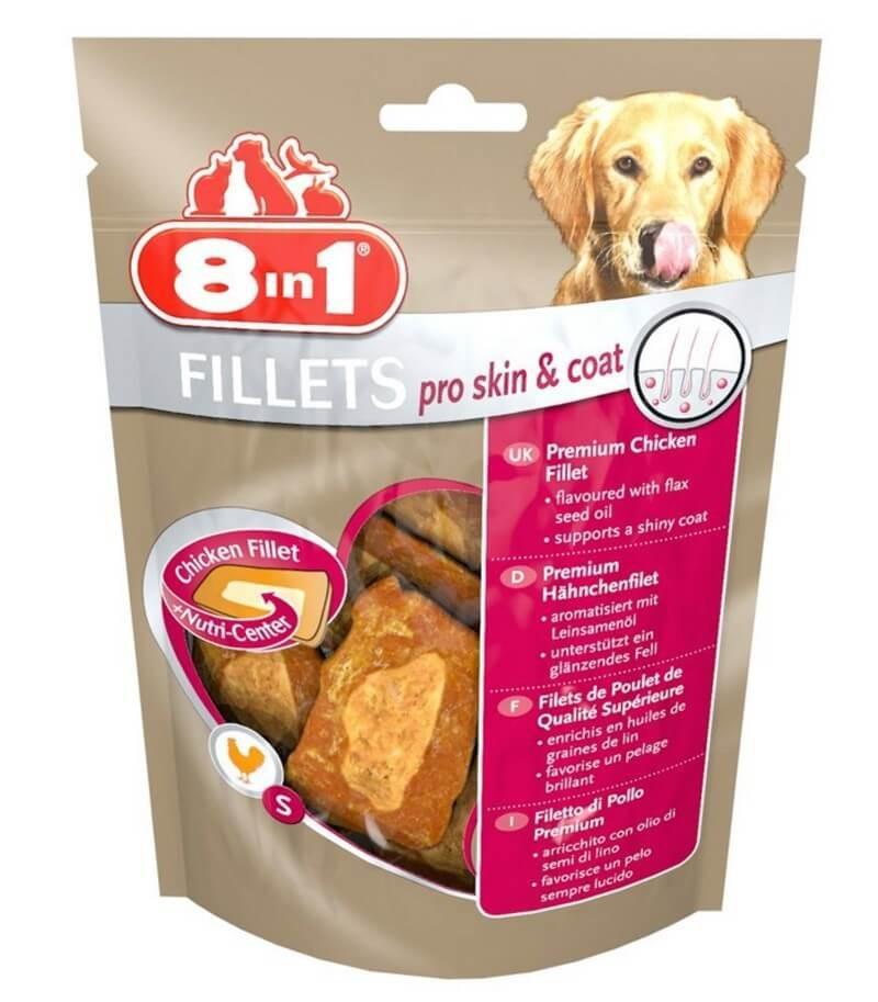 8in1 Fillets Pro Skin & Coat pour chien 80 g