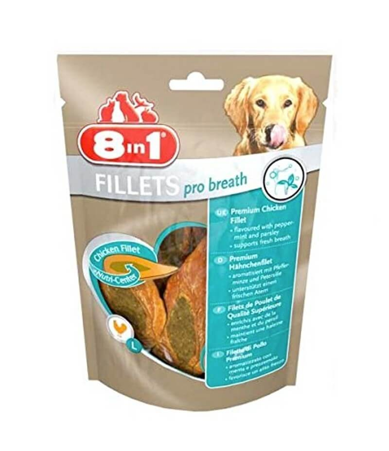 8in1 Fillets Pro Dental pour chien 80 g