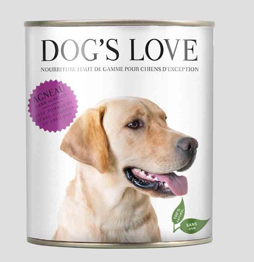 DOG'S LOVE Classic agneau boites 6 x 200 g- La Compagnie des Animaux