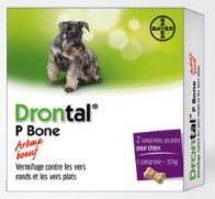 Drontal P Bone chien gout viande 2 Cps