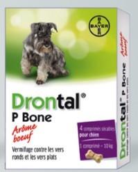 Drontal Chien arome viande 4 Cps