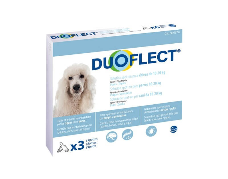 Duoflect Chiens 10-20 kg 3 pipettes - 6 mois