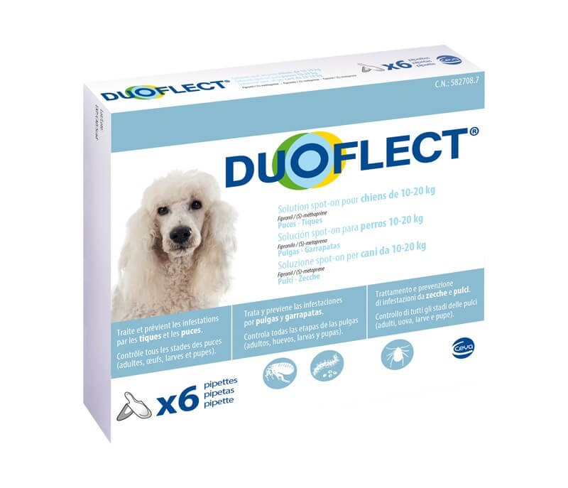 Duoflect Chiens 10-20 kg 6 pipettes - 12 mois