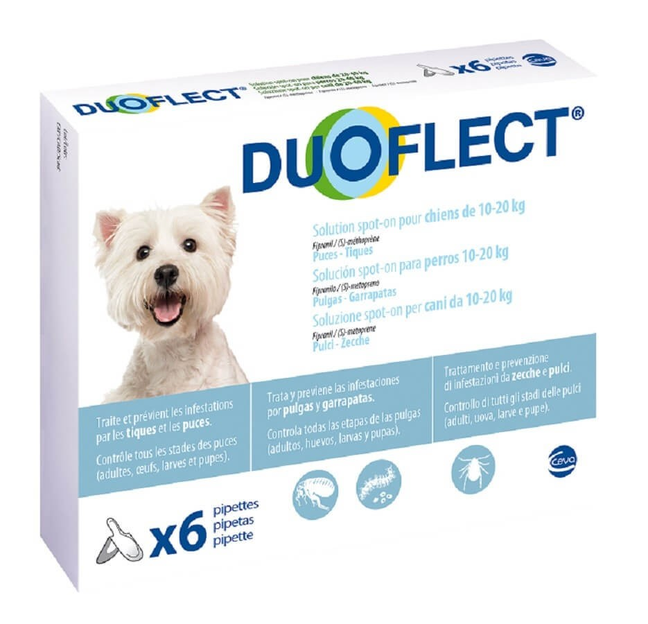 Duoflect Chiens 10-20 kg 6 pipettes