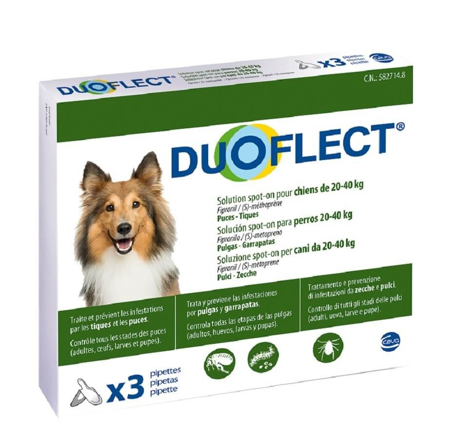 Duoflect Chiens 20-40 kg 3 pipettes