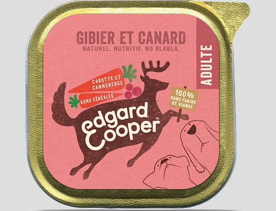 Edgard & Cooper Barquette Gibier & Canard pour chien 11 x 150 g- La Compagnie des Animaux