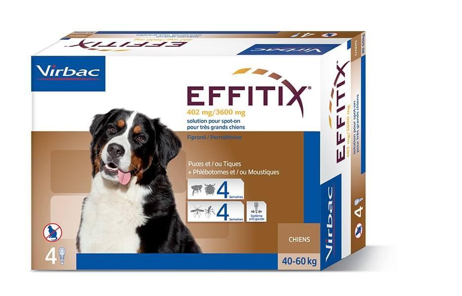Effitix Spot On très grand chien 40 - 60 kg 4 pipettes