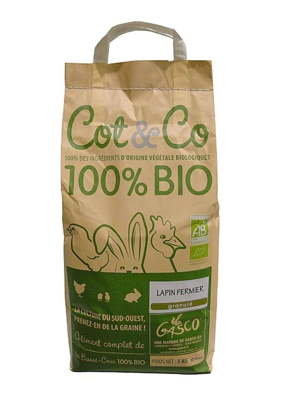 Gasco Cot & Co Bio Lapin 5 kg - La Compagnie des Animaux