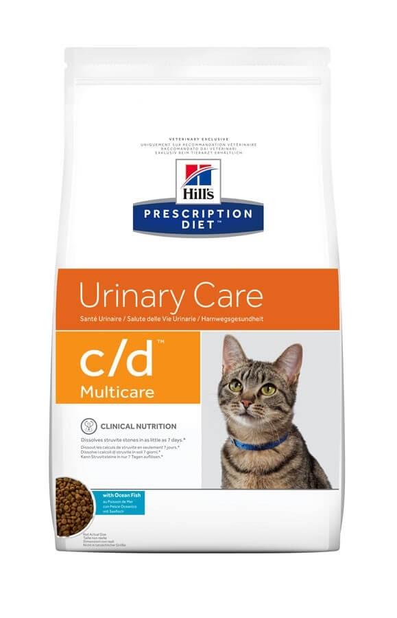 Hill's Prescription Diet Feline C/D Multicare au poisson 5 kg- La Compagnie des Animaux