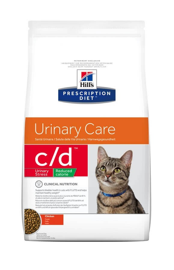 Hill's Prescription Diet Feline C/D (Multicare) Urinary Stress Light au poulet 8 kg- La Compagnie des Animaux