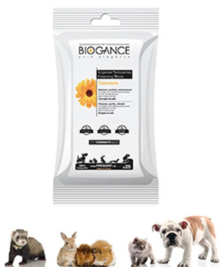 Biogance Lingettes Nettoyantes pour Chat Chien et Petits Mammifères