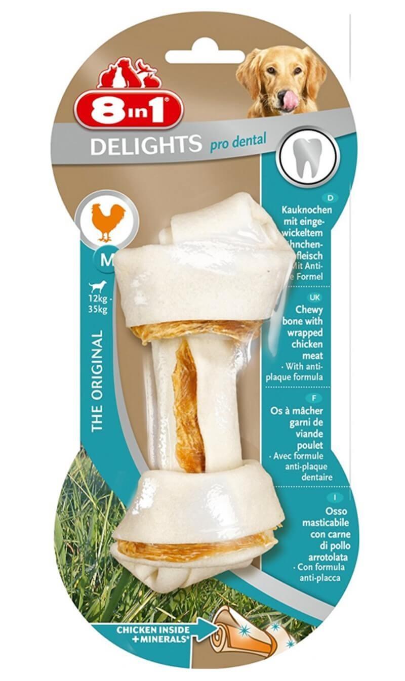 8in1 Delights Pro Dental Bone pour chien M