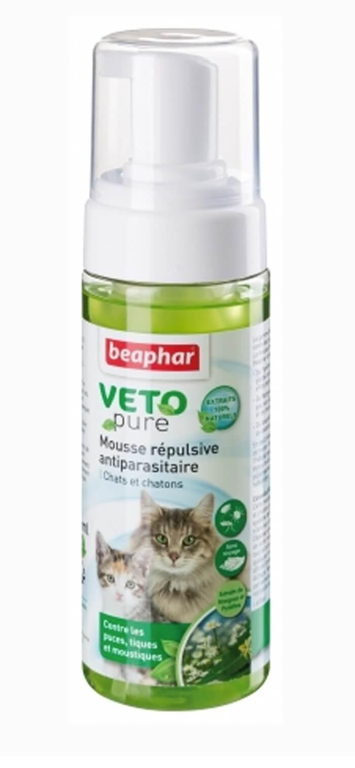 Beaphar VETOpure Mousse répulsive antiparasitaire pour chat 150 ml