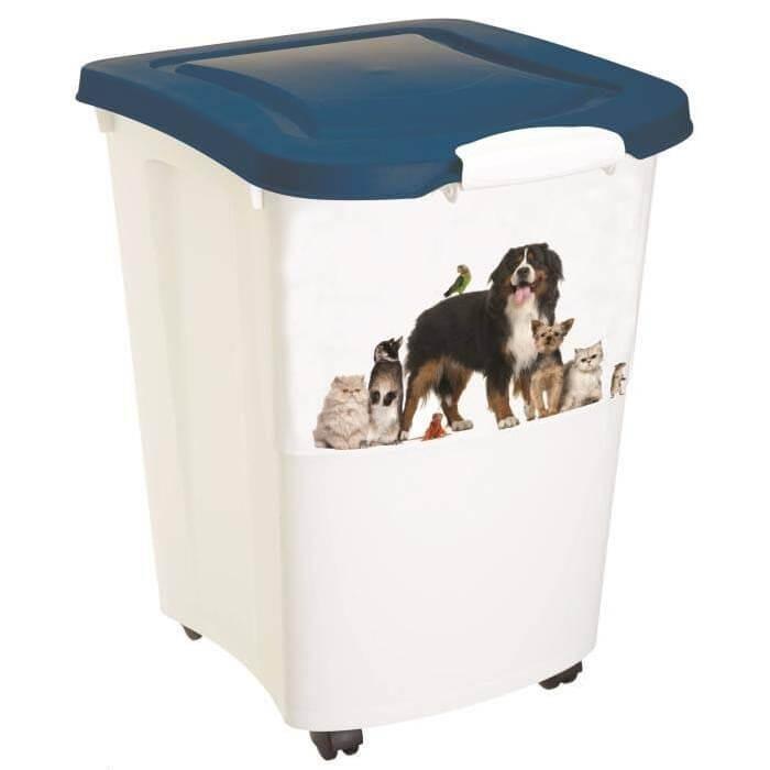 Pet Food Container 38L Blanc avec pelle - La Compagnie des Animaux