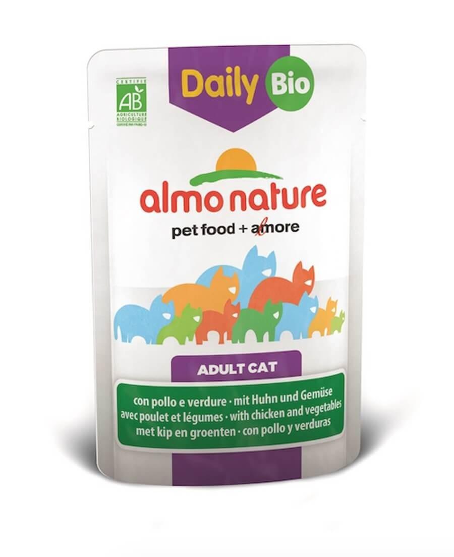 Almo Nature Chat Daily Bio Poulet et légumes 30 x 70 grs