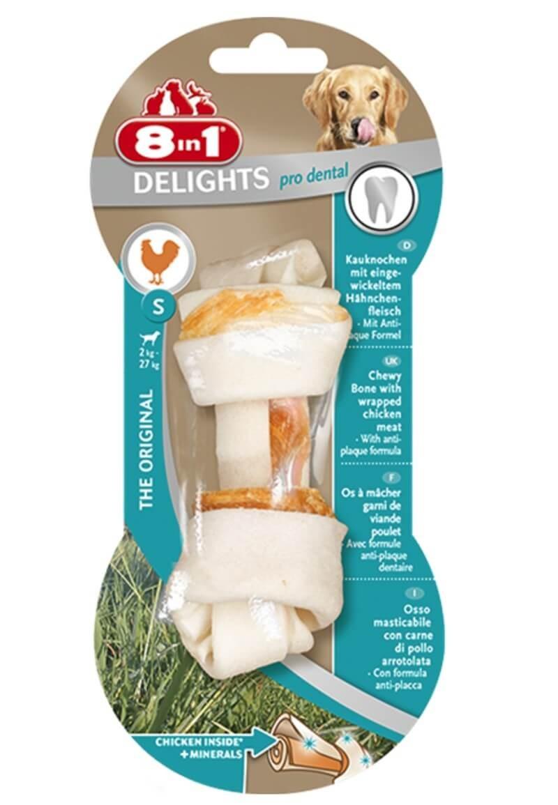 8in1 Delights Pro Dental Bone pour chien S