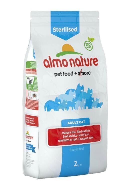 Almo Nature Chat Sterilised Boeuf et riz 2 kg