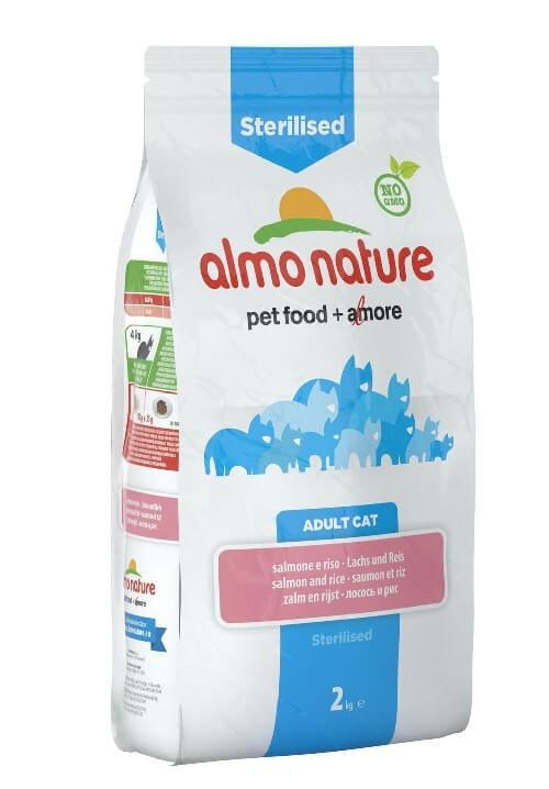 Almo Nature Chat Sterilised Saumon et riz 2 kg