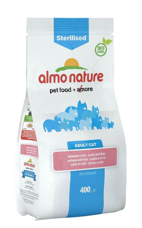 Almo Nature Chat Sterilised Saumon et riz 400 grs