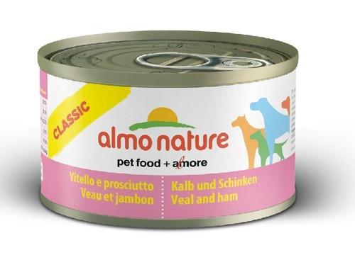 Almo Nature Chien Classic Veau et jambon 24 x 95 grs - La Compagnie des Animaux