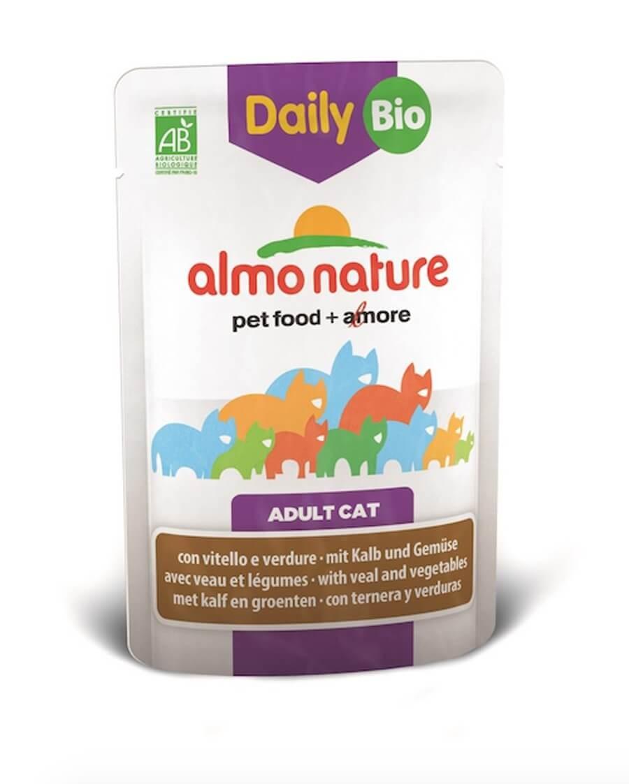 Almo Nature Chat Daily Bio Veau et légumes 30 x 70 grs