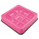 M-pets Waffle gamelle anti-glouton à carreaux rose